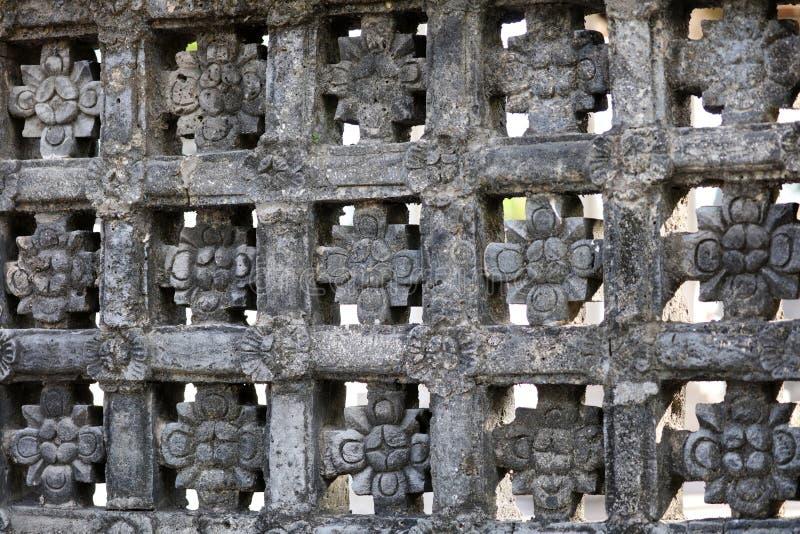 Antyczny Hinduskiej świątyni architektoniczny wzór przy Bali Indonezja fotografia royalty free