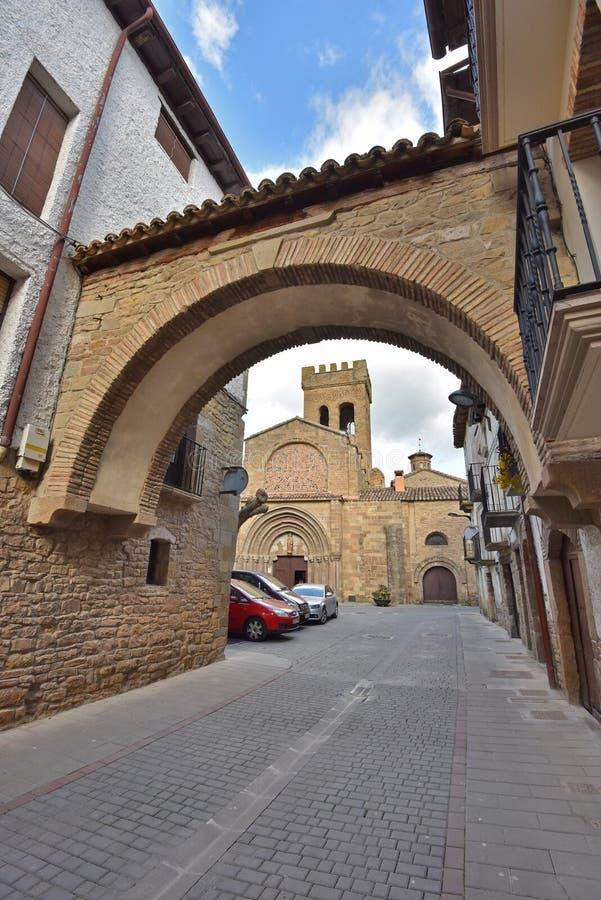 Antyczny Hiszpański grodzki Zangoza w Navarra zdjęcie royalty free