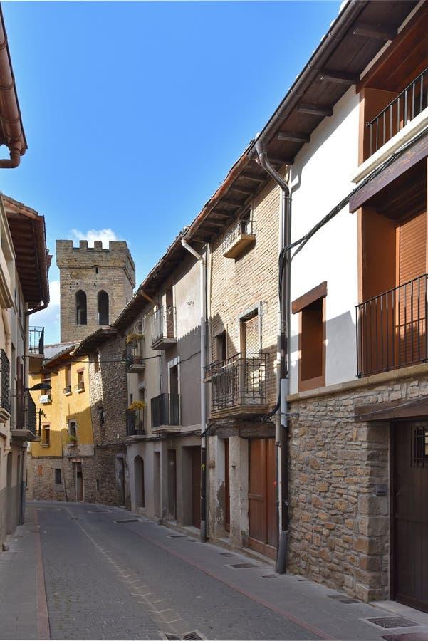 Antyczny Hiszpański grodzki Zangoza w Navarra obraz stock