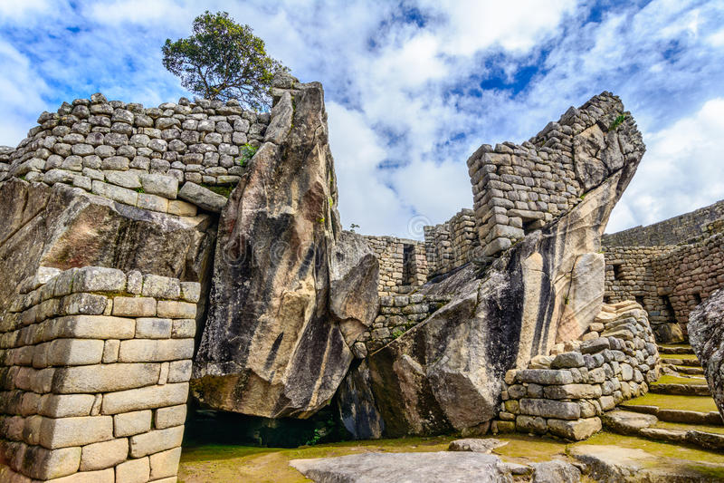 Antyczny incas miasteczko Mach Picchu Peru obraz royalty free