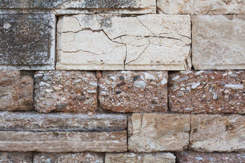 Antyczny kamiennej ściany zakończenie zdjęcia stock