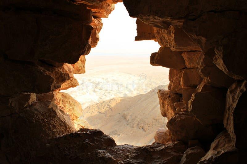 Antyczny kamienny okno obrazy royalty free
