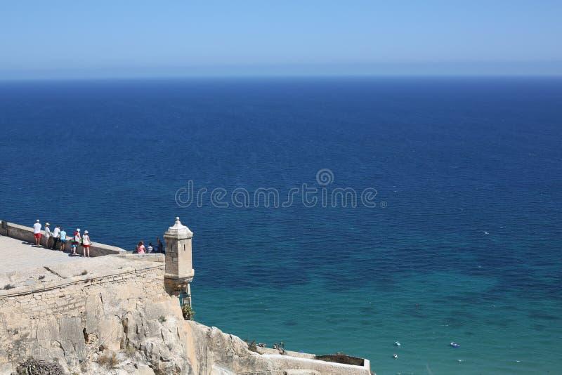 Antyczny kasztel w Alicante, Hiszpania fotografia royalty free