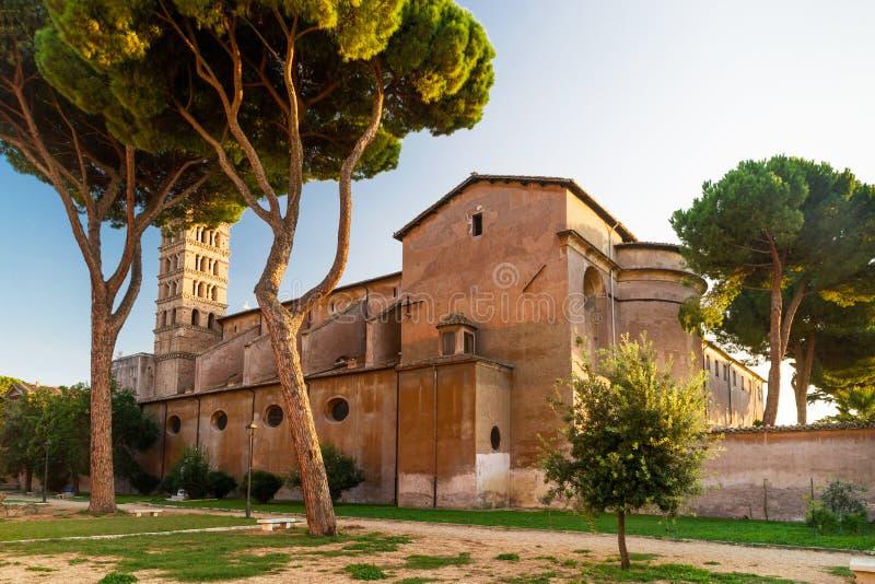 Antyczny kościół chrześcijański na Aventine wzgórzu w Rzym fotografia stock