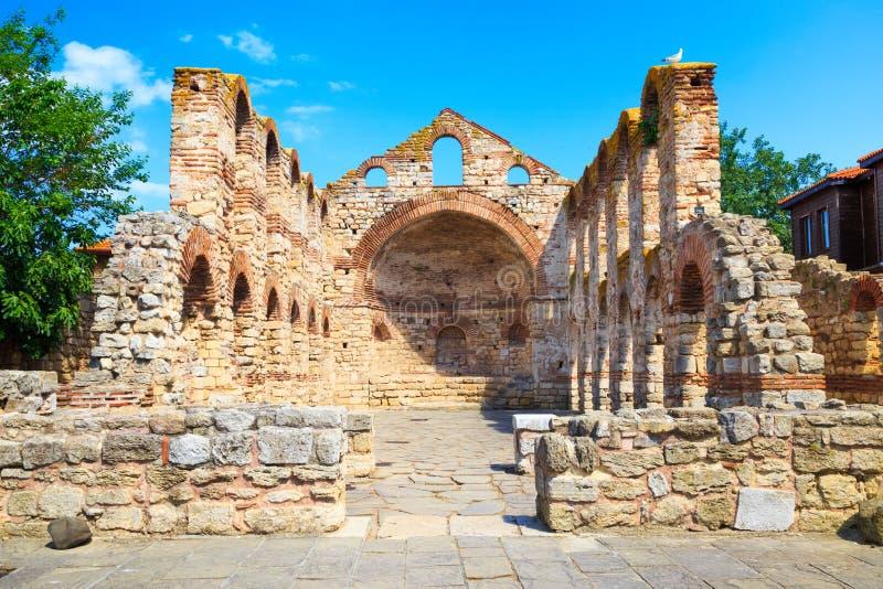 Antyczny kościół St Sophia, Nessebar, Bułgaria zdjęcie royalty free