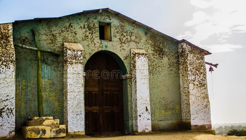 Antyczny kościół w mieście na Peru Ameryka Latina obraz stock