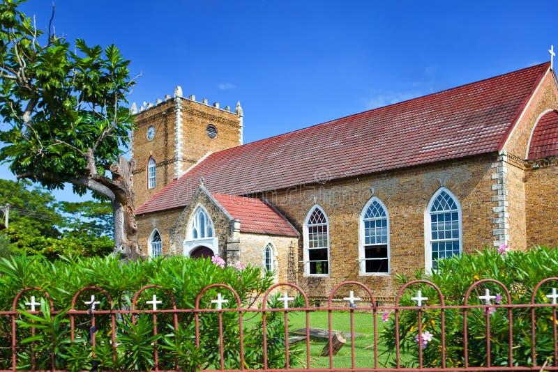 antyczny kościelny kolonialny Jamaica zdjęcia royalty free