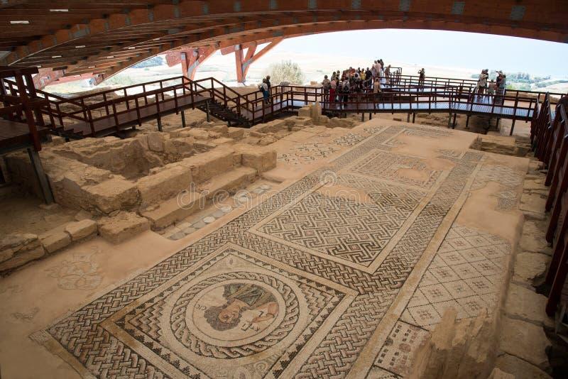 Antyczny kourion teatr Cypr obraz royalty free