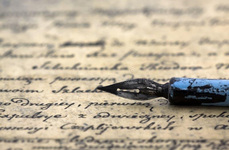 antyczny listowy pióro obrazy royalty free
