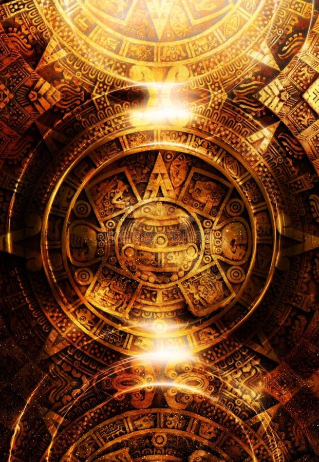 Antyczny Majski kalendarz, abstrakcjonistyczny koloru tło royalty ilustracja