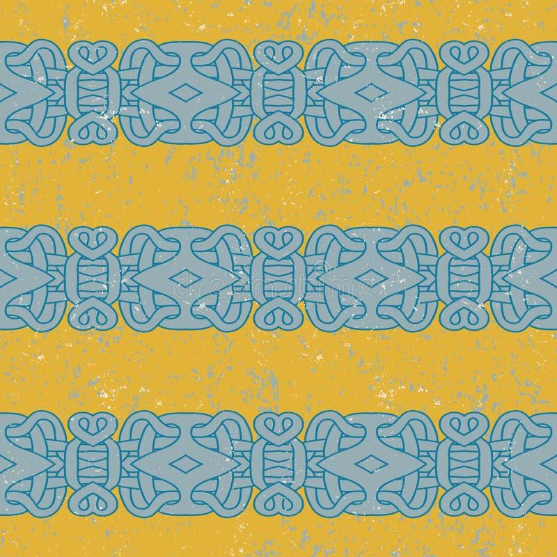 Antyczny majski wzór royalty ilustracja