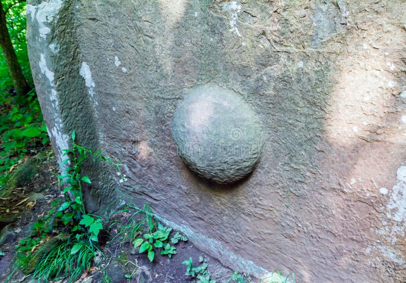 Antyczny megalityczny dolmen, Tuapse, Rosja zdjęcia royalty free
