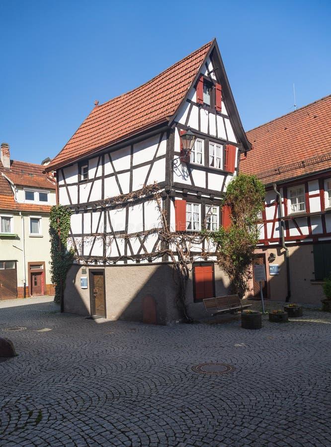 Antyczny miasteczko Mosbach w Południowy Niemcy obrazy stock