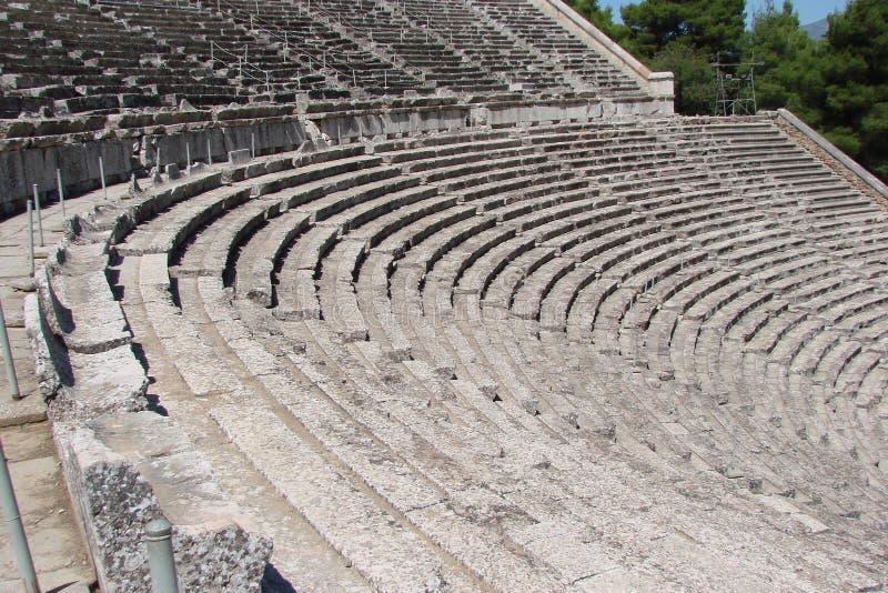Antyczny miasteczko Mycenae na półwysepie Peloponnese Grecja 06 19 2014 Krajobraz ruiny starożytnego grka architectu obrazy stock