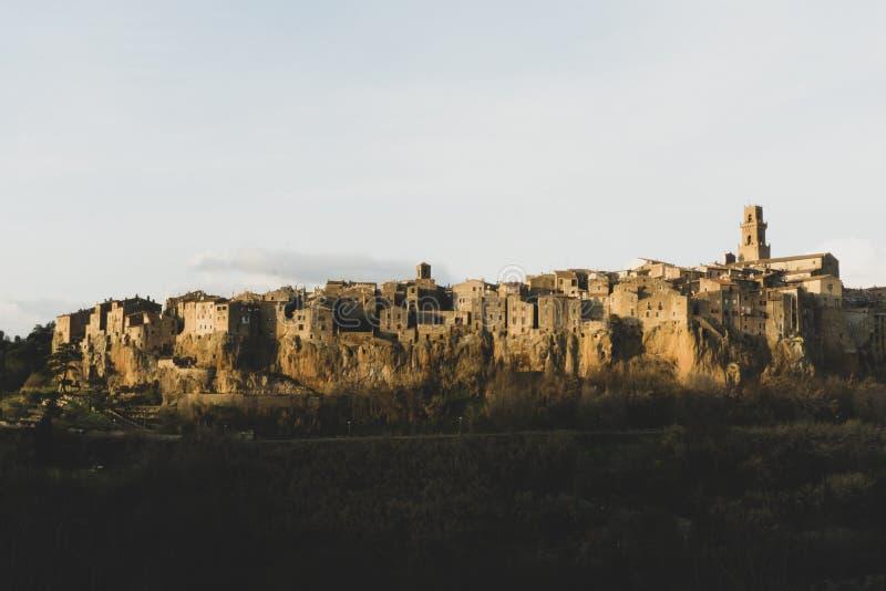 Antyczny miasteczko Pitigliano zdjęcie royalty free