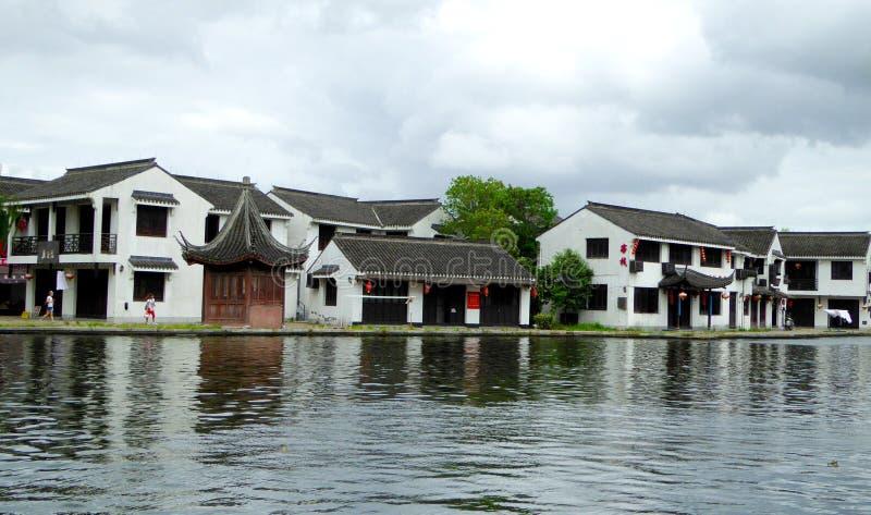 Antyczny miasteczko Xitang domy zdjęcia stock