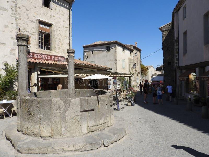 Antyczny miasto Carcassonne lokalizował w Francja obrazy royalty free
