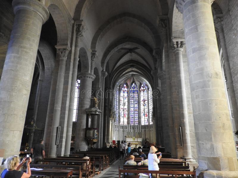 Antyczny miasto Carcassonne lokalizował w Francja obraz royalty free