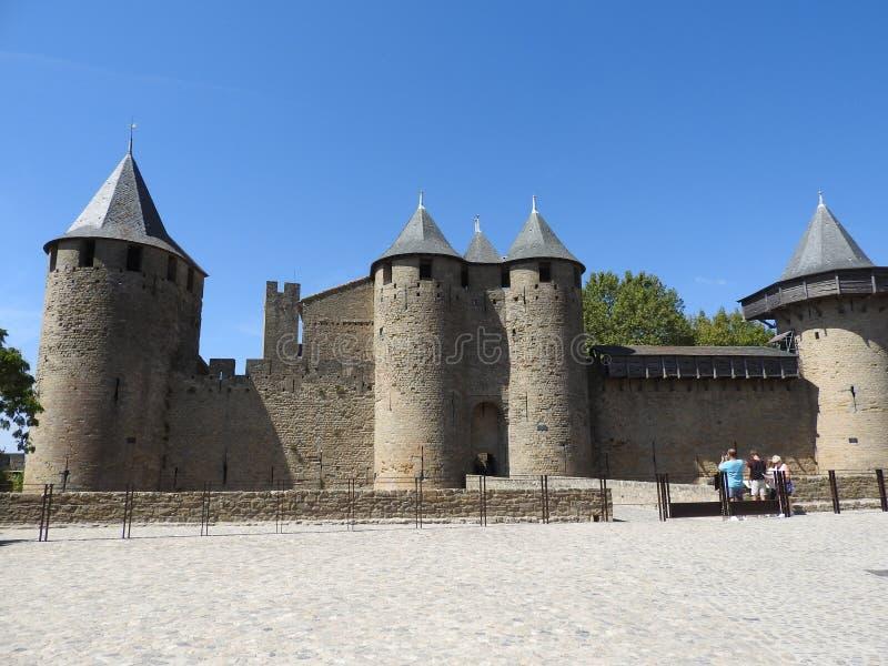 Antyczny miasto Carcassonne lokalizował w Francja obrazy stock