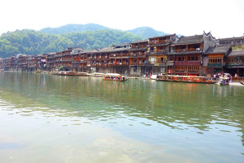 Antyczny miasto Fenghuang, prowincja hunan, Chiny zdjęcia stock