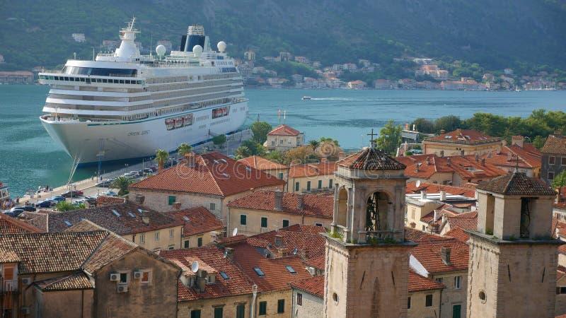 Antyczny miasto Kotor Jeden historyczni miasta Montene zdjęcia royalty free