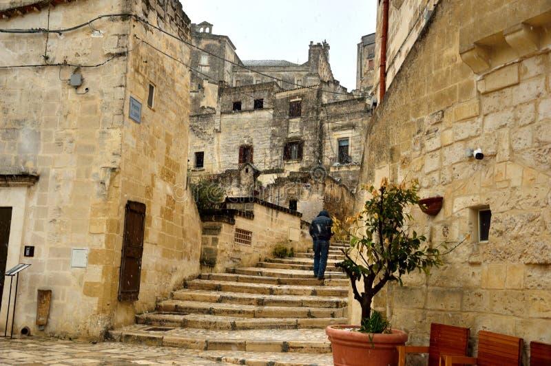 Antyczny miasto Matera zdjęcie royalty free