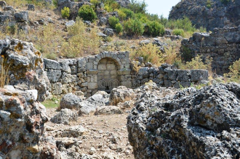 Antyczny miasto Pergamon łączył Silyon obraz stock