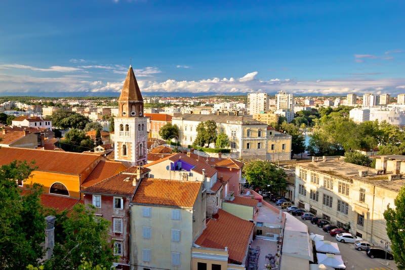 Antyczny miasto Zadar widok z lotu ptaka fotografia stock