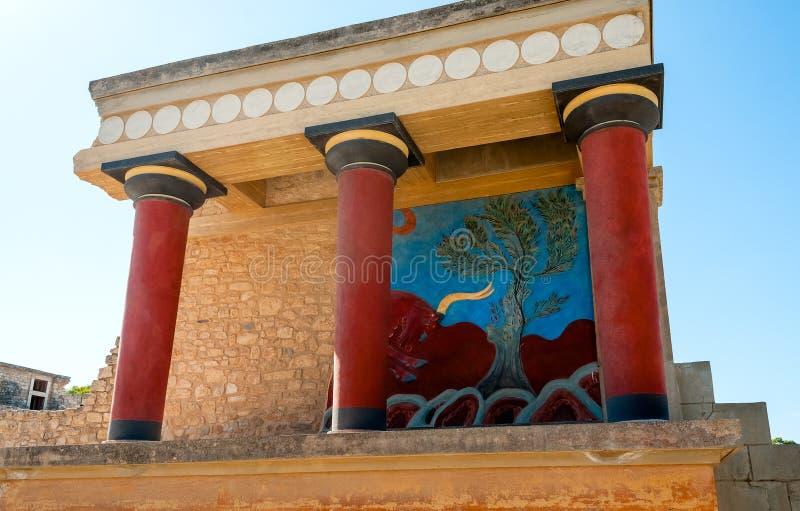 Antyczny miejsce Knossos w Crete zdjęcie stock