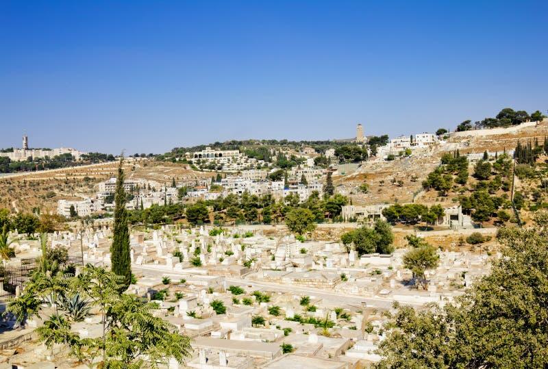 Antyczny Muzułmański cmentarz. Jerozolima zdjęcie royalty free