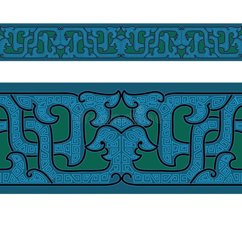 antyczny porcelanowy ornament royalty ilustracja