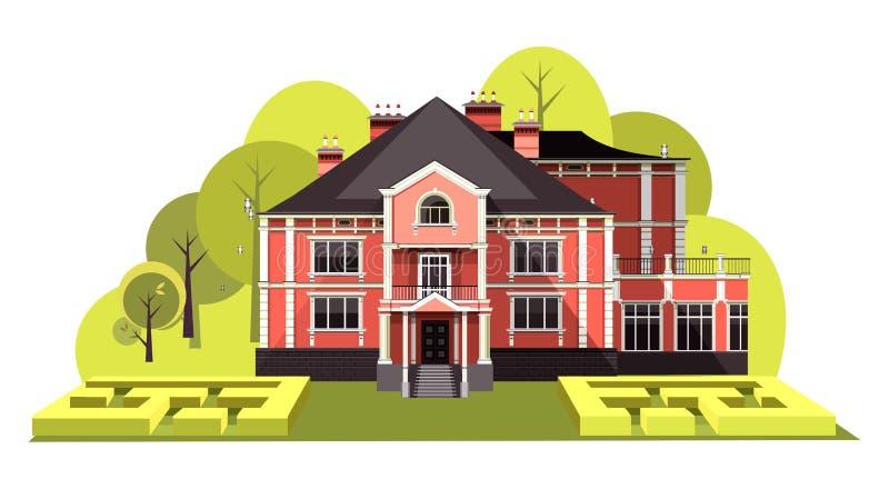 Antyczny rezydencja ziemska wektor royalty ilustracja