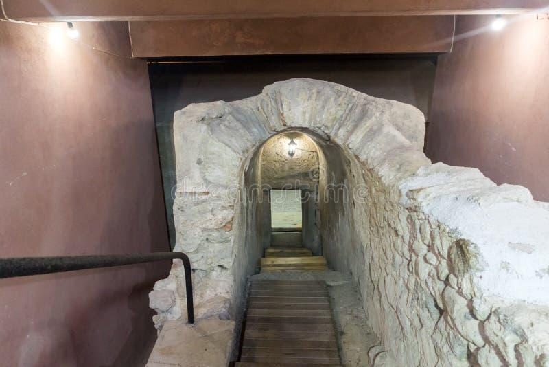 Antyczny Romański grobowiec w Romańskim mieście Diocletianopolis, Hisarya, Plovdiv region, Bułgaria obraz royalty free