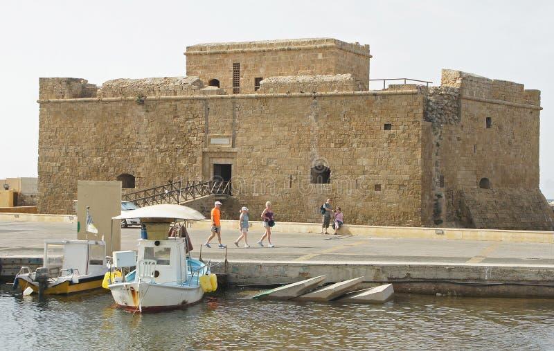 Antyczny Romański fort, Pafos, Cypr, Europa zdjęcie royalty free
