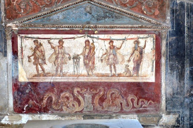 Antyczny Romański fresk zdjęcie royalty free