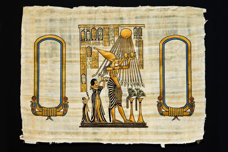 antyczny rysunków papirusu prześcieradło ilustracji