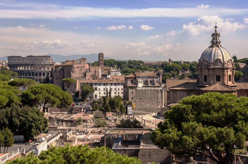 Antyczny Rzym krajobraz obrazy royalty free