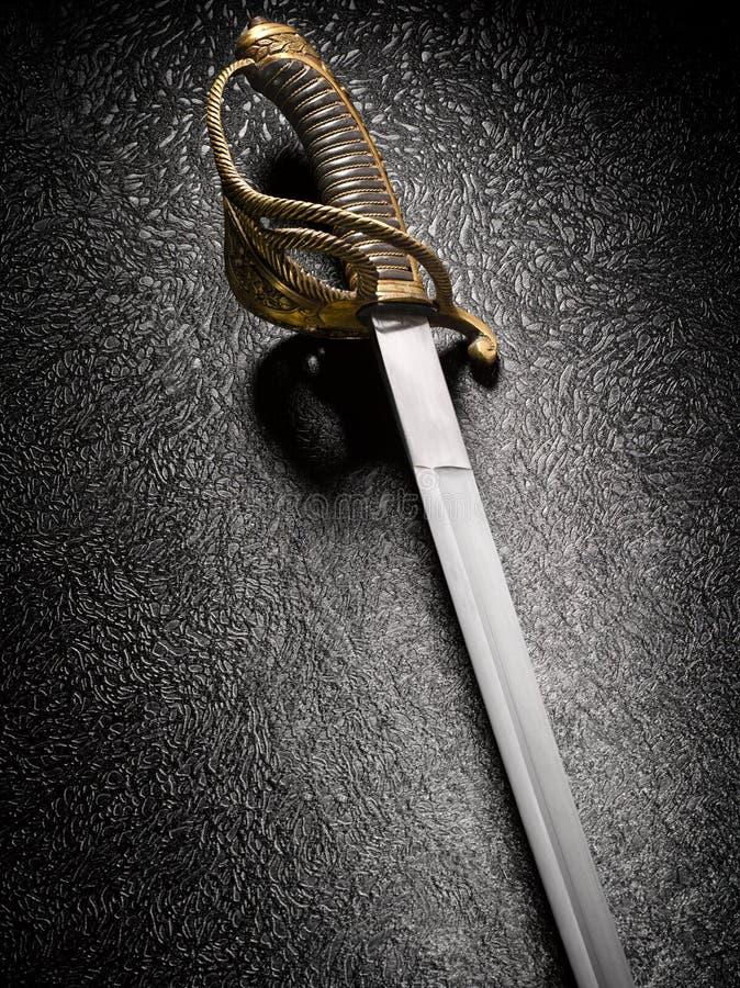 Antyczny saber z piękną rękojeścią obrazy royalty free