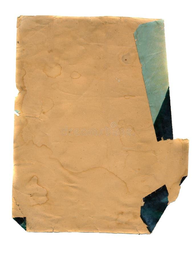 Antyczny starzejący się papierowy tło fotografia stock