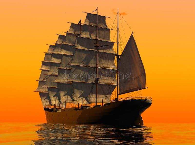 Download Antyczny statek ilustracji. Ilustracja złożonej z okrętowiec - 13326868