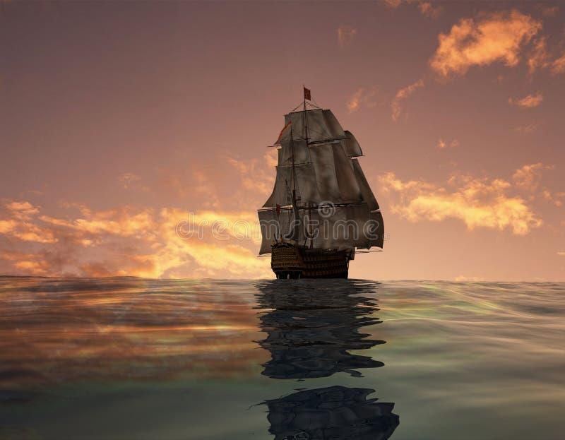 antyczny statek royalty ilustracja