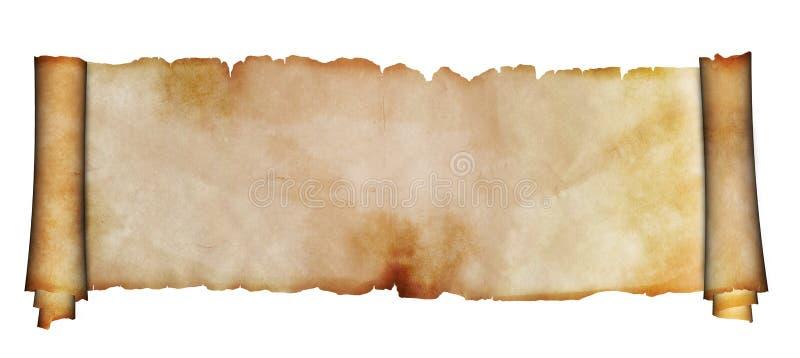 antyczny tło odizolowywający pergaminowy ślimacznicy biel ilustracja wektor