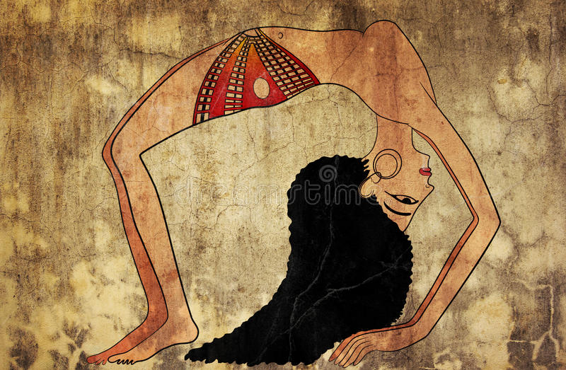 antyczny tancerz Egypt royalty ilustracja