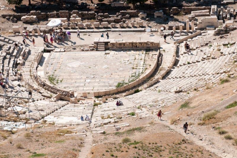 Antyczny teatr w akropolu, Ateny obraz stock