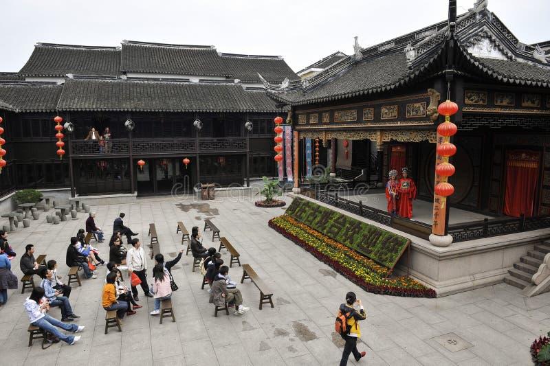 Antyczny theatre Zhou Zhuang wioska, Chiny fotografia stock