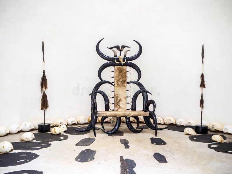 Antyczny tron w zdjęcia royalty free
