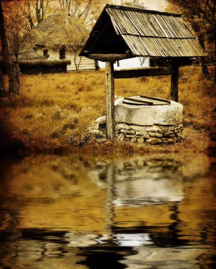 antyczny wodny well fotografia stock