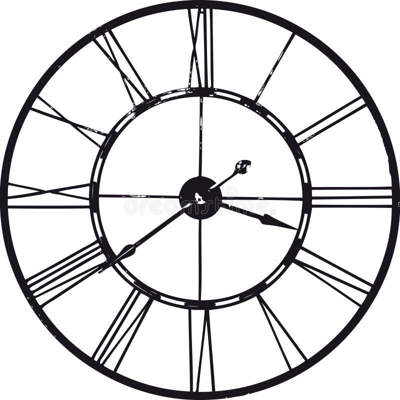 Antyczny zegarek nad bielem obraz royalty free