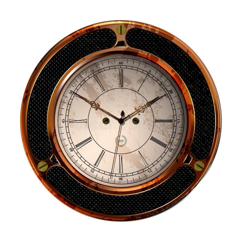 Antyczny zegarowy wektor ilustracja wektor