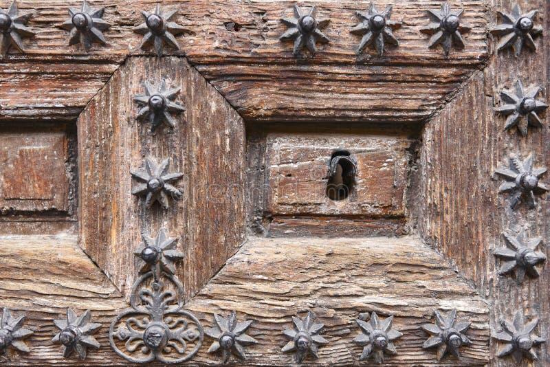 Antyk dekorujący drewniany drzwiowy keyhole ornamentu geometryczne tła księgi stary rocznik fotografia royalty free